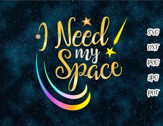 Introvert SVG Files for Cricut I Need My Space Funny Quote Let's Stay Home Print Clipart