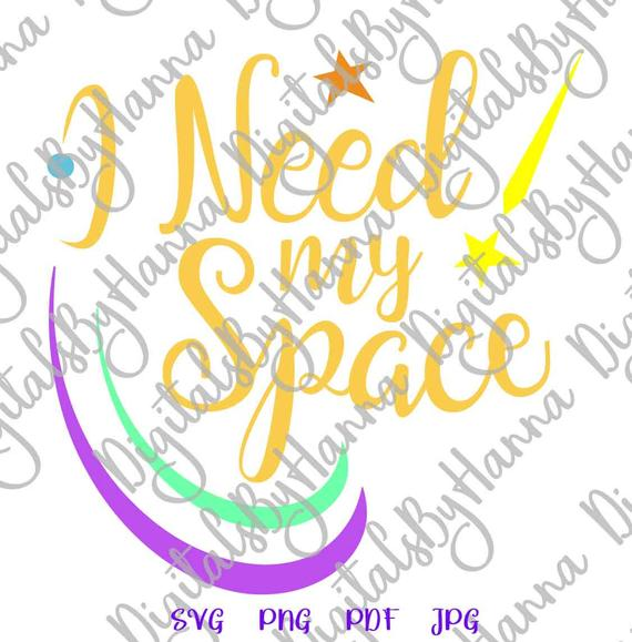 Introvert SVG I Need My Space Funny Quote Let's Stay Home Word Cut Print Graphics