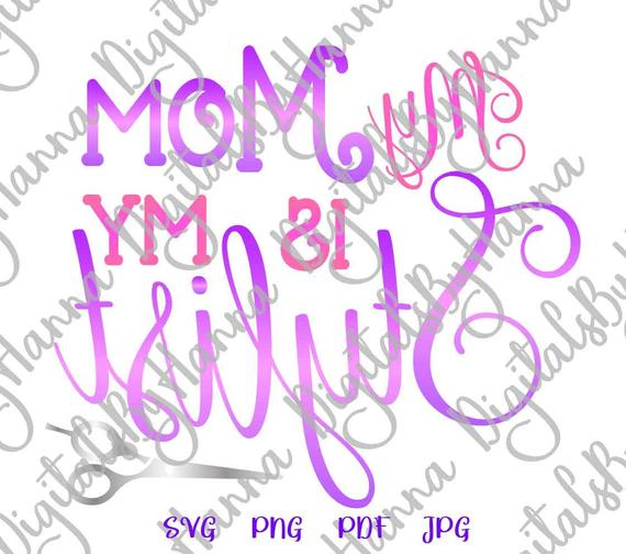 Mom and Me SVG Files for Cricut Saying Mother is My Stylist Onesie Funny Quote Cut Print