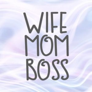 MomLife SVG Mom Wife Boss Funny Quote Mommy Word Sign Letter Shirt Clipart