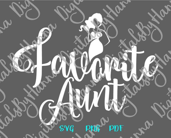 My Favorite Aunt Family SVG New Aunt Gift Best Auntie Ever t-Shirt Mug Cup Clipart