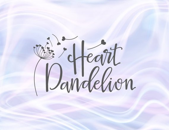 SVG Heart dandelion Wall Art Decal Clipart Sign Print tshirt Cup Silhouette Laser Cut