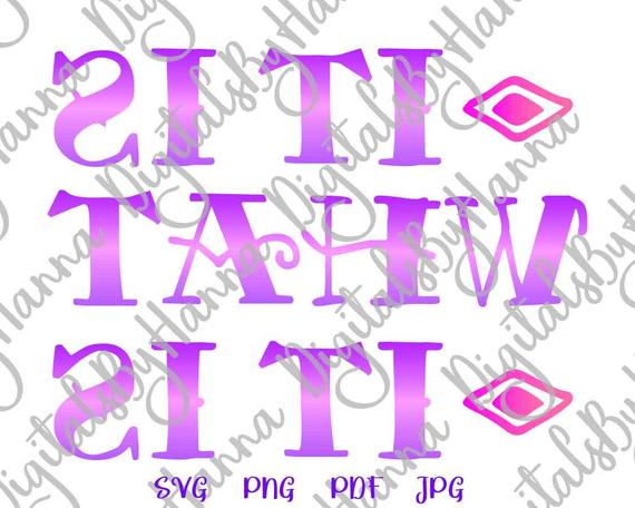 Sarcastic SVG Files for Cricut It is What it is SVG Funny Quote Sign Word Cut Print Graphics