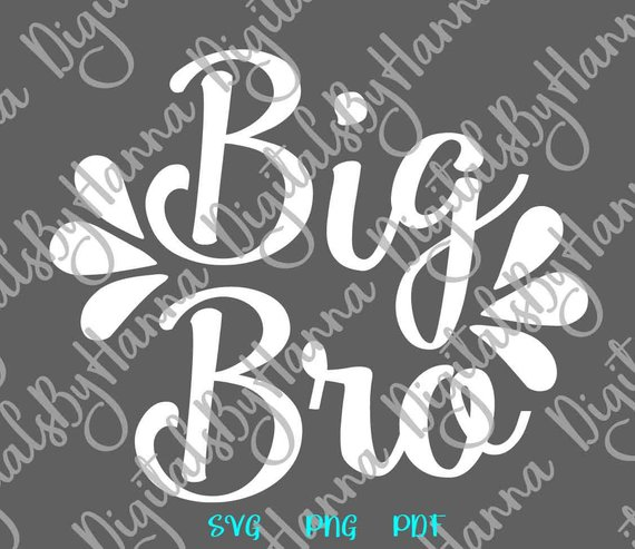 Siblings SVG Big Bro SVG Little Sorority Reveal Promoted Brother Family Baby Birth Announcement