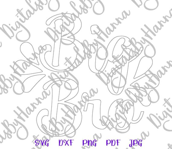 Siblings SVG Big Bro SVG Little Sorority Reveal Promoted Brother Silhouette Laser Cut