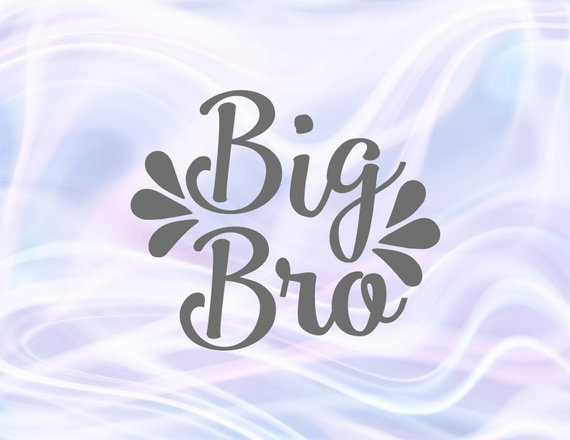 Siblings SVG Files for Cricut Big Bro Little Sorority Reveal Promoted Brother Family Baby Birth