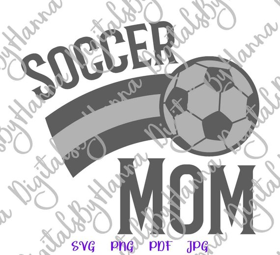 Soccer Mom SVG Ball Cliparts t-Shirt Sports Proud Family Word Sign DXF Laser Cut