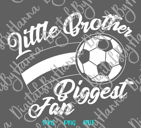 Soccer SVG Little Brother Biggest Fan Proud Boy Sport Player T-Shirt Laser Cut