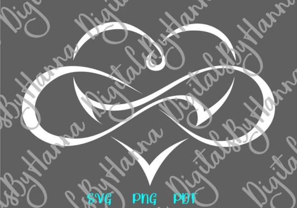 Valentine Day SVG Clipart Love Between Mother and Daughter SVG Infinity Symbol Heart Print Cut