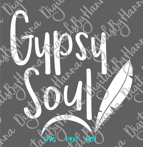 Wanderlust SVG File for Cricut Gypsy Soul Inspirational Traveling t-Shirt Sign Cut Print Graphics