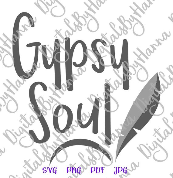 Wanderlust SVG Gypsy Soul Inspirational Traveling Clipart tShirt Tee Word Sign