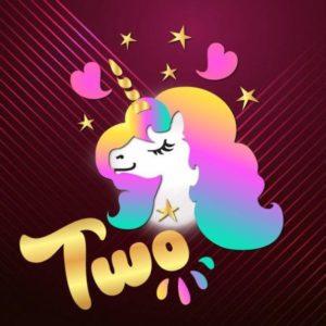 2nd Birthday SVG Two Unicorn Clipart Face Head Second Year Invitation Onesie Cut Print