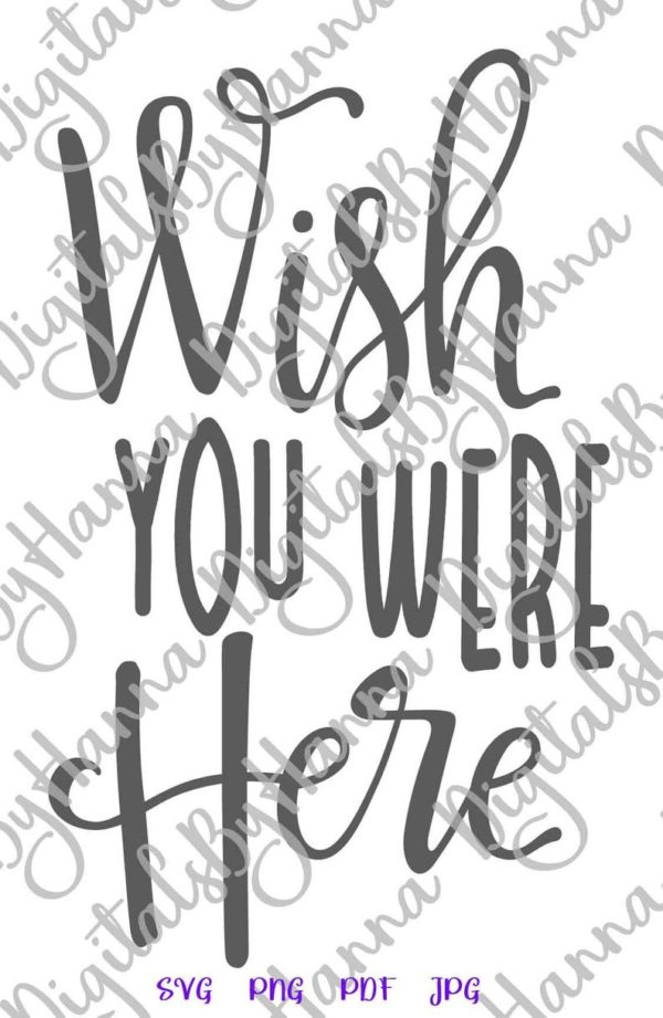 BFF SVG Files for Cricut Wish You Were Here Miss Best Friend Print Tee Clipart Cut
