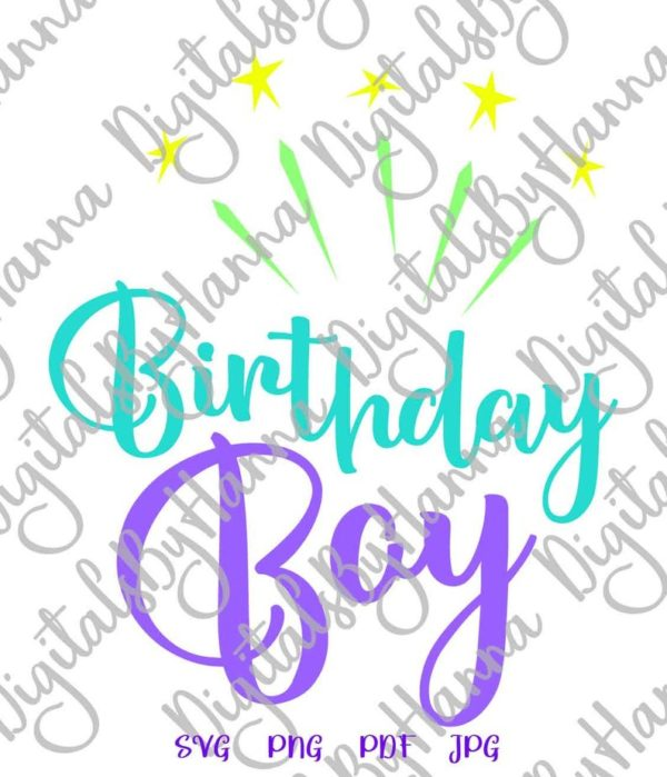 Birthday Boy SVG Baby Onesie Outfit Clipart Sign Cut Print Sublimation Graphics