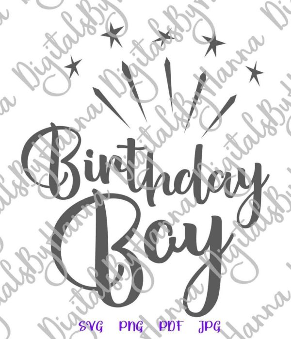 Birthday Boy SVG Files for Cricut Baby Onesie Outfit Clipart Sash Banner Print Sublimation