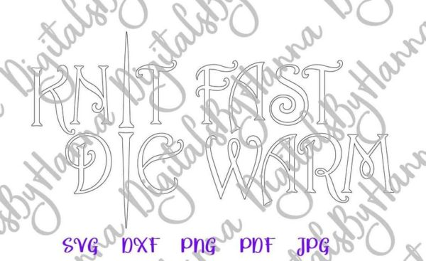 Crafty Girl Knit Fast Die Warm Svg Funny Sign Print Sublimation Cut Project