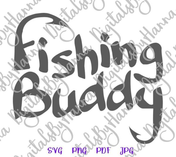 Fishing Buddy SVG Camp Clipart Fisherman Cut Print Tee Happy Camper Life Sublimation