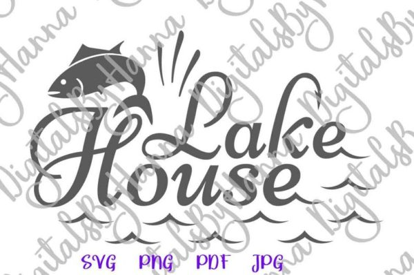 Fishing SVG Files for Cricut Saying Lake House Camp Clipart Fish Sign Fisherman Print Happy Camper Life