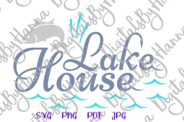 Fishing SVG Lake House SVG Camp Clipart Fish Fisherman Happy Camper Life Word Sublimation Cut Use