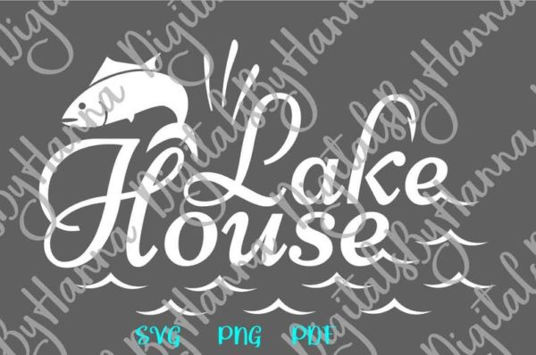 Fishing SVG Saying Lake House Camp Clipart Fish Fisherman Print Happy Camper Life Cut Use