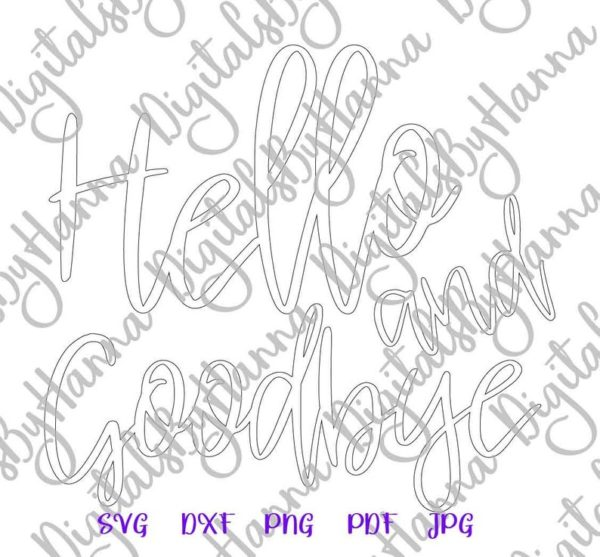 Introvert SVG Files for Cricut Hello and Goodbye Funny t-Shirt Tee Word Silhouette Dxf Laser Cut