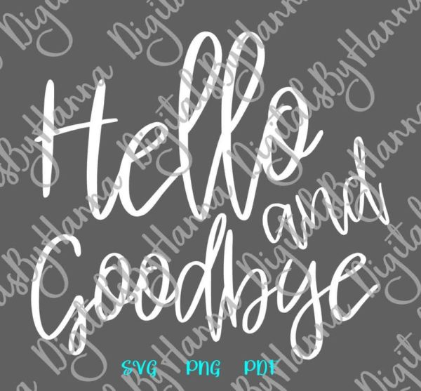 Introvert SVG Hello and Goodbye Funny Quote Let's Stay Home tShirt Print Clipart