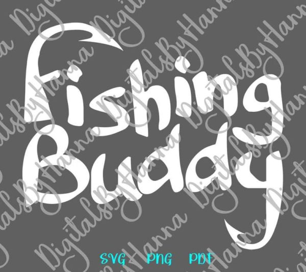 Lake Fishing Buddy SVG Camp Clipart Hook Sign Fisherman Print Tee Happy Camper Quote
