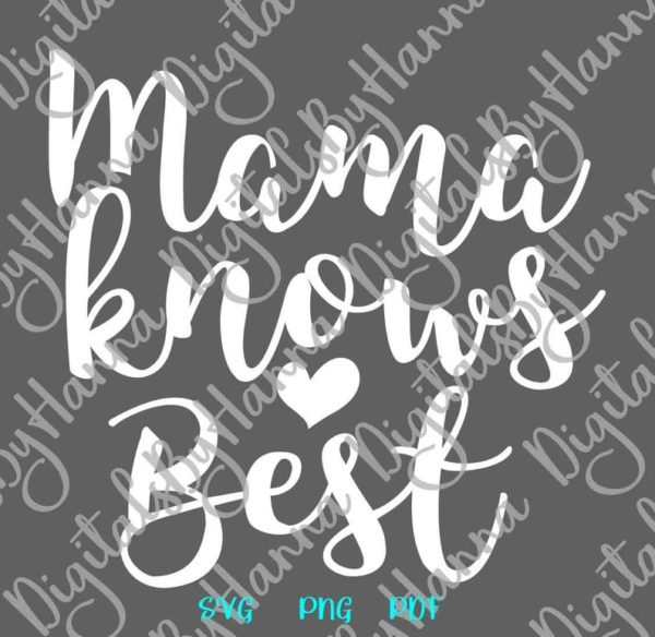 Mommy and Me SVG Files for Cricut Mama Knows Best Mamas Bestie Mom Quote Onesie Bodysuit