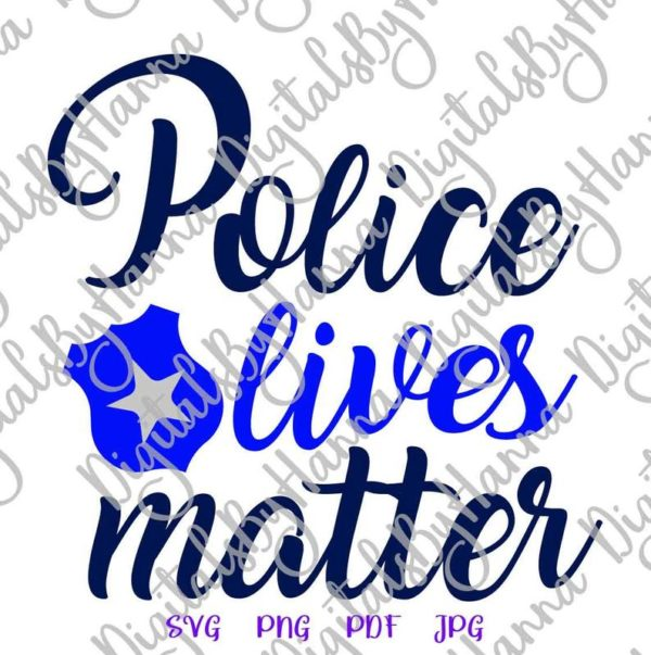 Police SVG Blue Lives Matter Law Enforcement Badge Mug Cut Print Sublimation