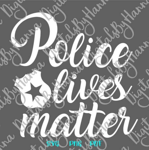 Police SVG Cricut Blue Lives Matter Law Enforcement Badge Quote Mug Cup Tumbler Print