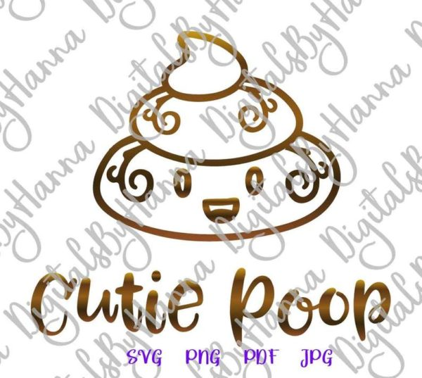 Poop Emoji SVG Bag Sign Dog Mom Pet Lover Funny Toilet Clipart Graphics Gag Gift