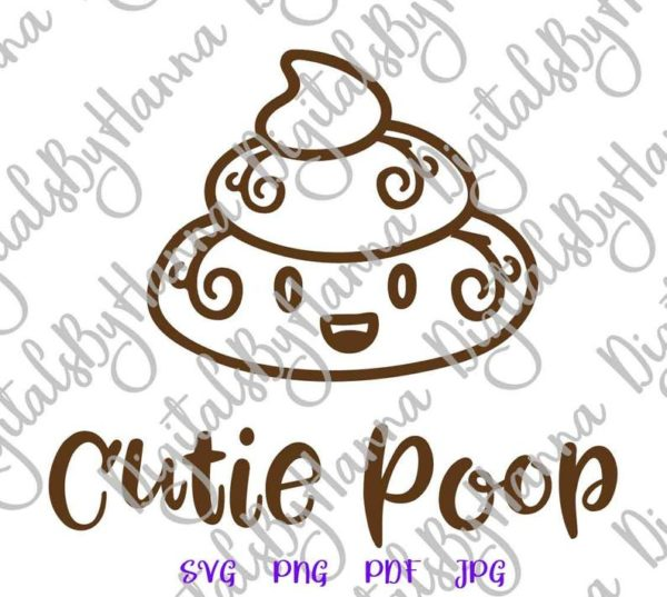 Poop Emoji SVG Cute Dog Funny Toilet Clipart Print Sublimation Graphics Gag