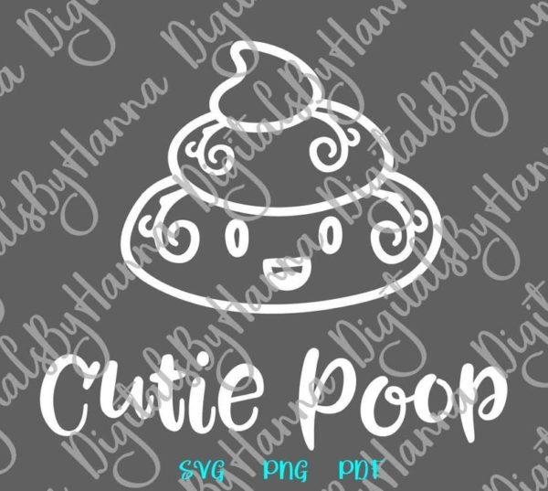 Poop Emoji SVG Cute Dog Poop Bag Dog Mom Pet Lover Funny Toilet Clipart Vector Gag