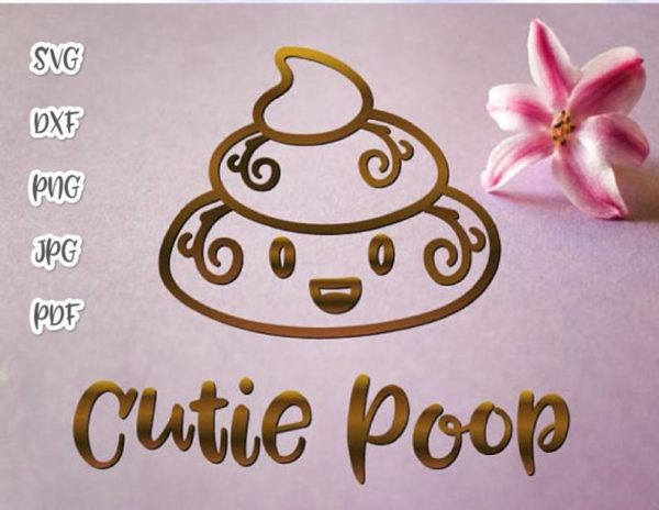 Poop Emoji SVG Cute Dog Poop Bag Sign Dog Mom Pet Lover Funny Toilet Clipart