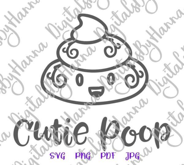 Poop Emoji SVG Dog Poop Bag Dog Mom Pet Lover Funny Toilet Vector Clipart Gag Gift