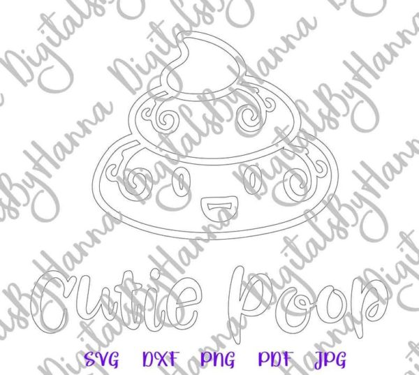 Poop Emoji SVG Mom Pet Lover Funny Toilet Clipart Word Cut Print Sublimation Graphics