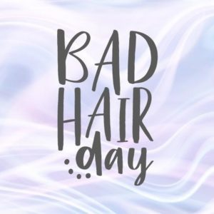 Sarcastic SVG Bad Hair Day Funny Quote Lettering Tee Shirt Laser Cut Vector Clipart