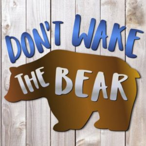 Sarcastic SVG Files for Cricut Don't Wake The Bear Funny Quote tShirt Cut Print Graphics