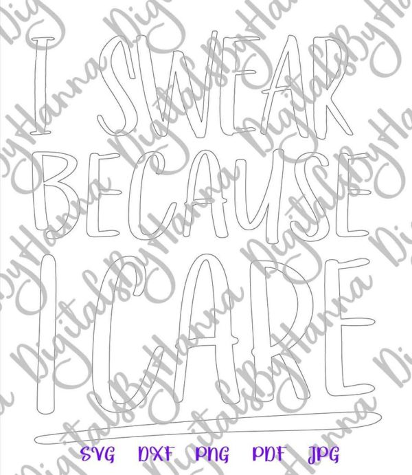 Sarcastic SVG Files for Cricut Saying Maybe Swearing Will Help Funny Quote Print Sublimation