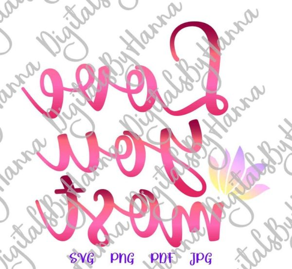 Valentine Day Clipart Saying I Love You Most SVG More Just Married Romantic Quote Honeymoon