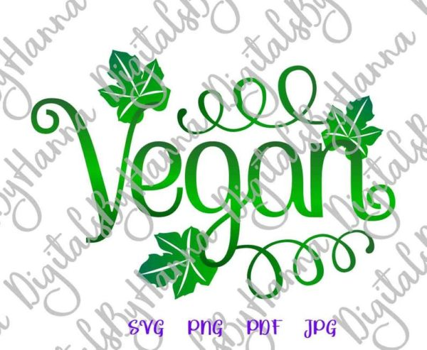 Vegan Clipart Sign Tee t-shirt Print Graphics Mug Cup Tumbler Tote Bag