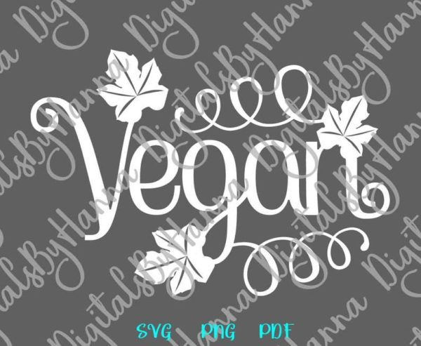Vegan SVG Wall Art Decal Clipart Sign tshirt Print Graphics Mug Cup Clipart