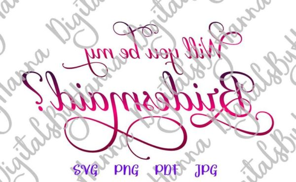 Will You be My Bridesmaid SVG Proposal Team Bride Tribe Clipart Sublimation Cut