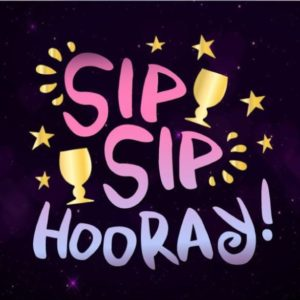 Wine SVG Sip Hooray Funny Birthday Anniversary Bridal Shower Alcohol Cut Print