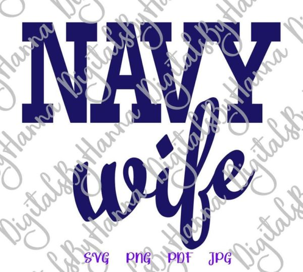 Army Navy Wife Proud US Marine Corps USMC Coast Guard Military Cut Print Sublimation