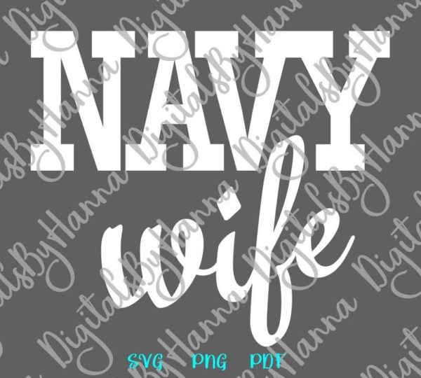 Army Navy Wife Proud US Marine Corps Wifey Cloth T Shirt USMC Coast Guard Military Cut Print
