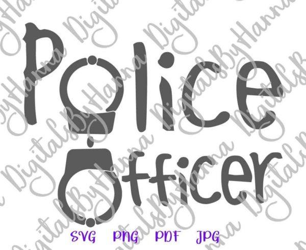 Enforcement Police Officer SVG Policeman Cop Tee Mug Cup Tumbler Cut Print