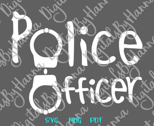 Law Enforcement SVG Files for Cricut Saying Police Officer Policeman Cop Clipart Cut Print