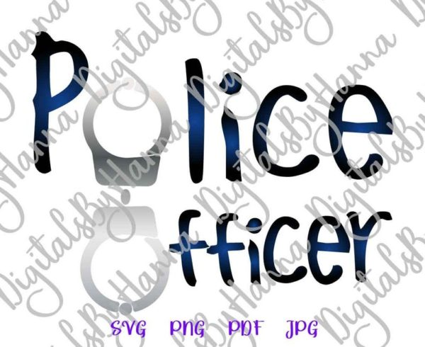 Law Police Officer SVG Policeman Cop Tee Mug Cup Tumbler Cut Print