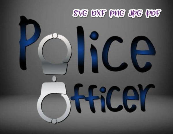 Police Officer SVG Policeman Cop Tee Mug Cup Tumbler Word Cut Print Sublimation